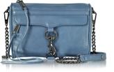 Rebecca Minkoff Mini M.A.C. Azure Distressed Leather Crossbody Bag