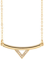 Rebecca Minkoff 12k Gold-Plated Crystal Bar Necklace
