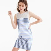 J.Crew Striped dress with eyelet
