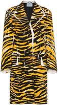 Prada Single Breasted Tiger Print Coat