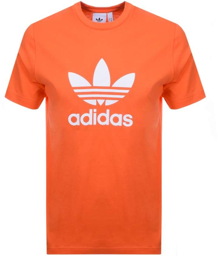 adidas Trefoil T Shirt Orange