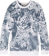 Stella McCartney Cutout printed cotton-terry sweatshirt