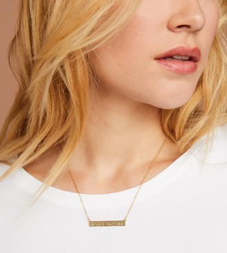 """ThirdLove To Each, Her Own"""" Bar Necklace"""
