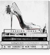 """Oliver Gal Fashion Icons Wall Art, 10"""" x 10"""""""