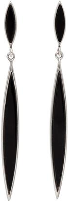 Isabel Marant Black Double Spear Earrings