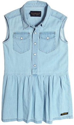 Finger In The Nose Sleeveless Light Cotton Denim Dress