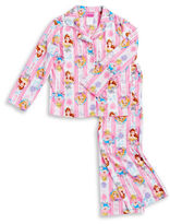 AME Sleepwear Flannel Princess Pajama Set