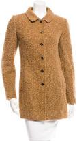 Dolce & Gabbana Wool & Mohair-Blend Long Sleeve Coat