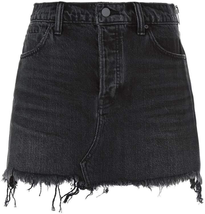 Alexander Wang Zip Detail Denim Skirt