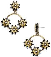 BaubleBar Eila Floral Circle Drop Earrings