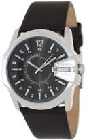 Diesel Men's DZ1206 Silver Dial Brown Leather Strap Watch