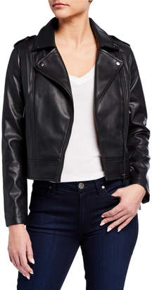 Bagatelle Faux-Leather Biker Jacket