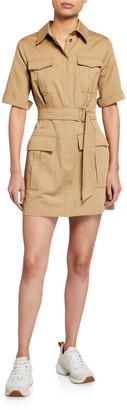 Pinko Dodoria Belted Utility Dress