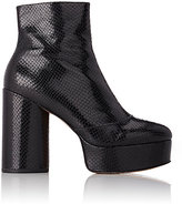 Marc Jacobs Women's Amber Platform Ankle Boots-BLACK