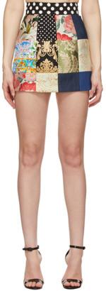 Dolce & Gabbana Multicolor Patchwork Miniskirt
