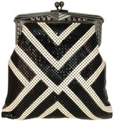 WHITING AND DAVIS - Limited Edition Poiret Pouch Crossbody Bag - Black