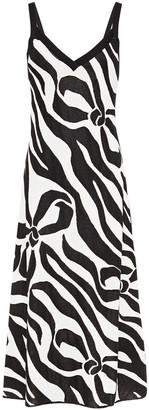 Boutique Moschino Metallic Jacquard-knit Midi Dress