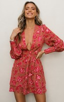 Showpo I got my reasons dress in pink print - 4 (XXS) Dresses