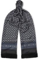 Dolce & Gabbana - Fringed Printed Silk-twill Scarf