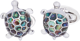 Jan Leslie Turtle Abalone Inlay Cufflinks