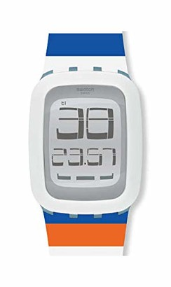 Swatch Unisex Adult Digital Watch with Silicone Strap SURS102E
