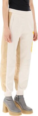 Stella McCartney LOGO JOGGER PANT 38 Beige,Orange Cotton