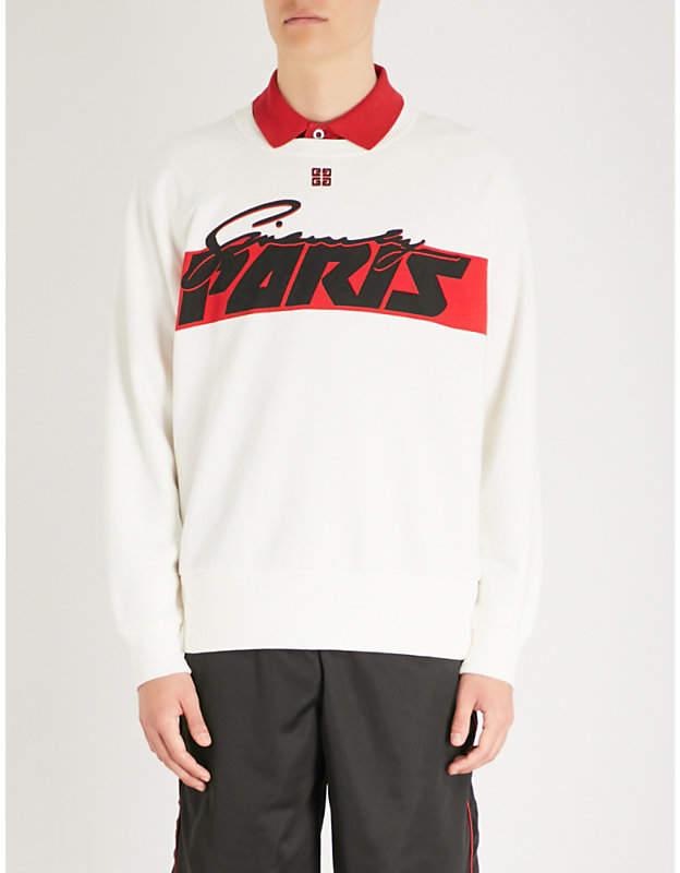 Givenchy Logo-print cotton-jersey sweatshirt
