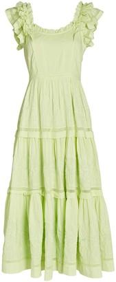 Ulla Johnson Julietta Tiered Cotton Midi Dress