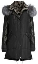 Nicole Benisti Chelsea Rabbit & Fox Fur Down Parka Coat