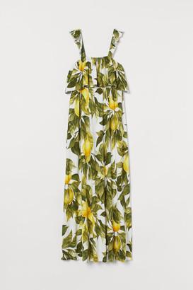 H&M MAMA Long Jersey Dress - White