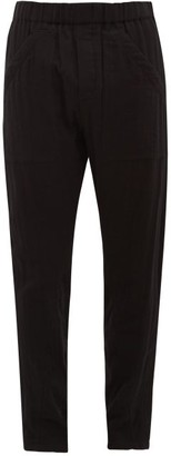 Ann Demeulemeester Arcille Straight-leg Cotton Trousers - Mens - Black