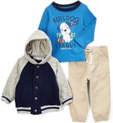 Kids Headquarters Navy & Gray Hooded Jacket Set - Infant & Boys