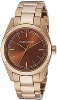 Cabochon Women's 520 De Ce Monde Analog Display Swiss Quartz Rose Gold Watch