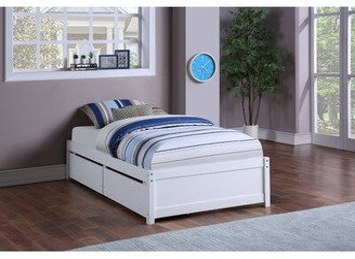 Latitude Run Fillender Twin Storage Platform Bed Color: White