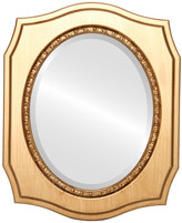 """The Oval And Round Mirror Store San Francisco Framed Oval Mirror in Gold Paint, 19""""x23"""""""