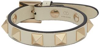Valentino White Garavani Rockstud Bracelet