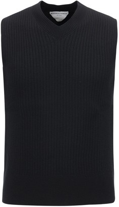 Bottega Veneta Mid Gauge Wool Knit Crop Vest
