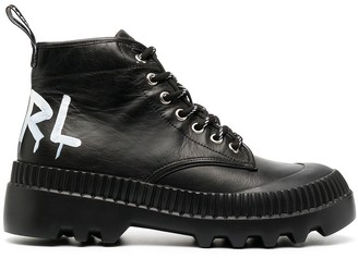 Karl Lagerfeld Paris Lace-Up Ankle Boots