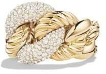 David Yurman Belmont® Ring With Diamonds In 18K Gold