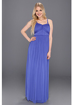 Jessica Simpson Gathered Spaghetti Strap Gown w/ Bust Detail