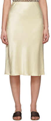 Nanushka Yellow Washed Satin Circle Skirt