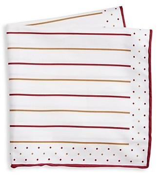 Brunello Cucinelli Stripe & Dot Pocket Square