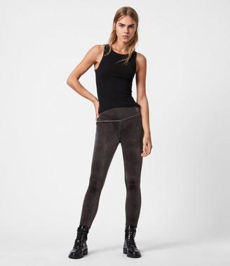 AllSaints Cora Velvet High-Rise Leggings