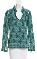 Tory Burch Sequin-Embellished Geometric Print Tunic