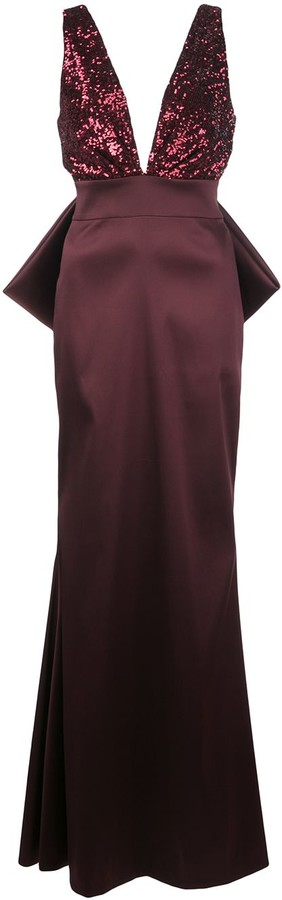 Sachin + Babi Topanga sequin bodice gown