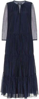 S Max Mara Arold cotton and silk maxi dress