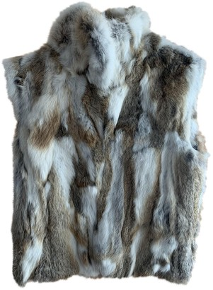 Adrienne Landau Multicolour Rabbit Coat for Women
