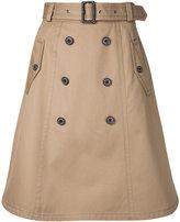 Loveless - belted A-line skirt - women - Cotton - 34