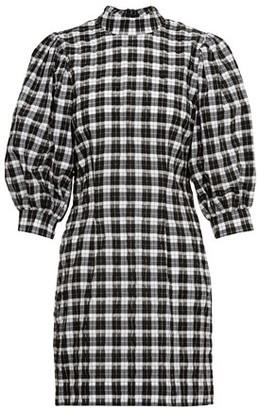 Ganni Seersucker short dress