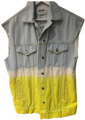MSGM Yellow Denim - Jeans Jackets